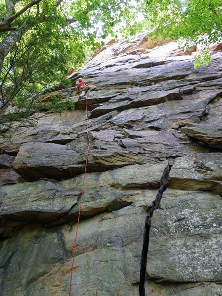 Geisha Girl (5.8): My first climb at the New (Jul 2016)