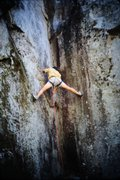 Rock Climbing Photo: Probably on the FA (Greg Olsen photo, early 80s).
