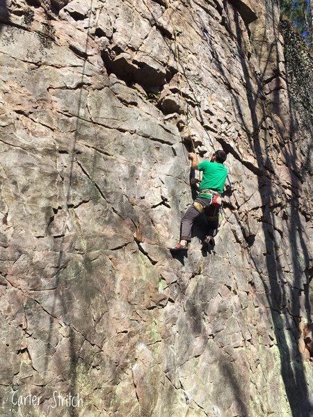 Rock Climbing Photo: Jon Jugenheimer working Blood Diamond and figuring...
