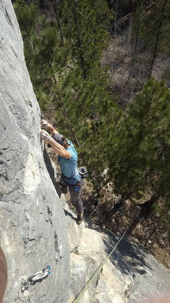 just getting into the crux