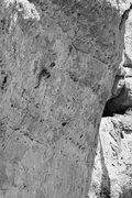 Rock Climbing Photo: Nearing the final roof of Mr. Majestyk.