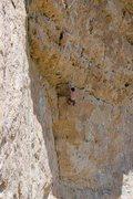 Rock Climbing Photo: Found a heel-hook rest under the first roof.