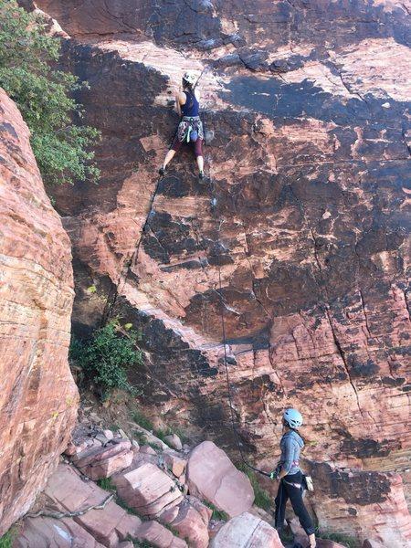 Rock Climbing Photo: Megan from Minnesota and friend from Arizona start...