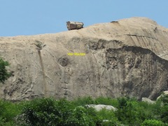 Rock Climbing Photo: Right-most route: the distinctive ladder, Veer Mad...