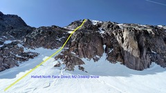 Rock Climbing Photo: The left start is around M2-3. The right start was...