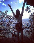 Rock Climbing Photo: Top Pitch... Topless