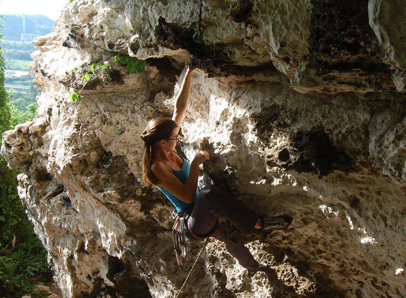 Rock Climbing Photo: Sport climbing at Monagas