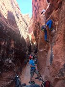 "Rock Climbing Photo: Hitting the ""thank god"" hueco after a sm..."