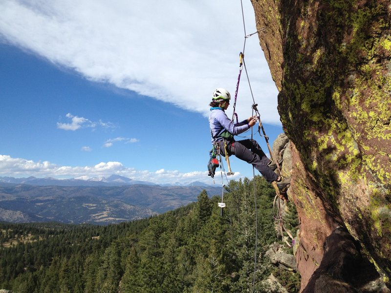 Rock Climbing Photo: Really nice setting here, with awesome views of th...