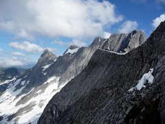 Rock Climbing Photo: Looking east from the northwest ridge of Clarke af...
