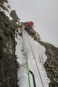 Rock Climbing Photo: The more difficult ice step