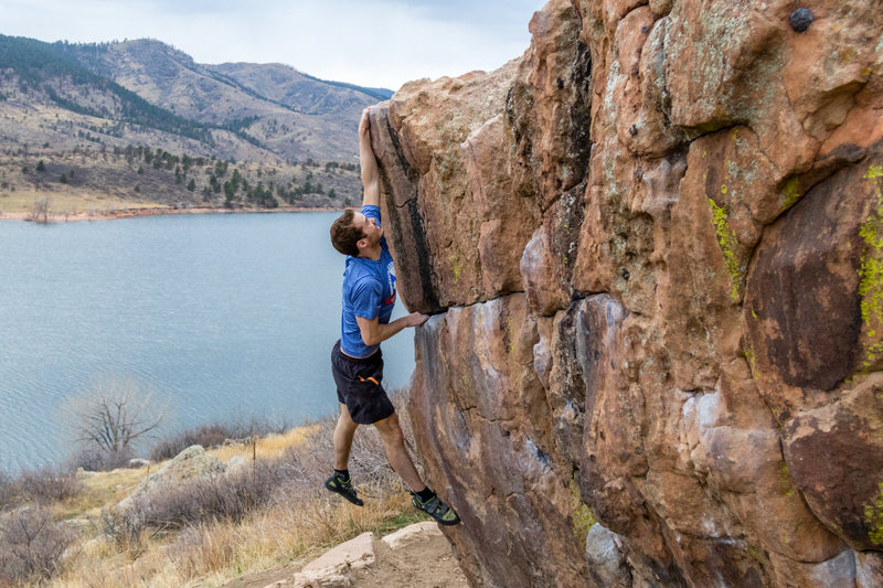 Rock Climbing Photo: Ripped some skin off my fingers last time, but I G...