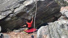 Rock Climbing Photo: Transition to start of Kerosine.
