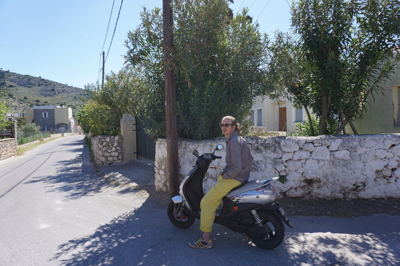 The main reason you go to Kalymnos - SICK Scooters!
