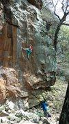 Rock Climbing Photo: Short person beta.