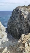 Rock Climbing Photo: The green cliff on the east side of the trail befo...