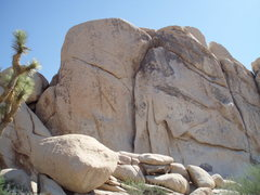 Rock Climbing Photo: Dogleg goes up the dogleg formation there... lol
