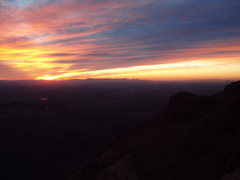 Rock Climbing Photo: Looking towards Phoenix from the summit at sunset
