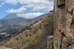 Rock Climbing Photo: Fabian groovin on the exit to the roof on this awe...