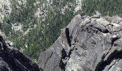 Rock Climbing Photo: The final belay of the West ridge of Paisano Pinna...