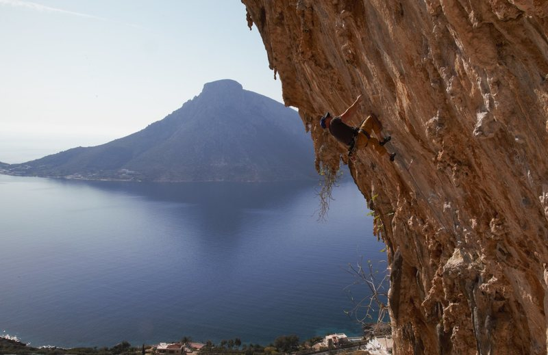 Rock Climbing Photo: Earning my afternoon Mythos. It doesn't get mu...