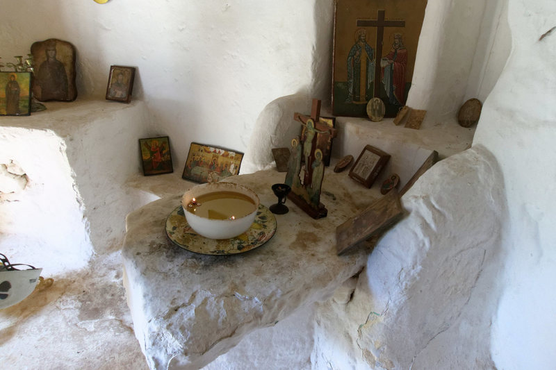 Rock Climbing Photo: Inside the tiny church on the north side Telendos
