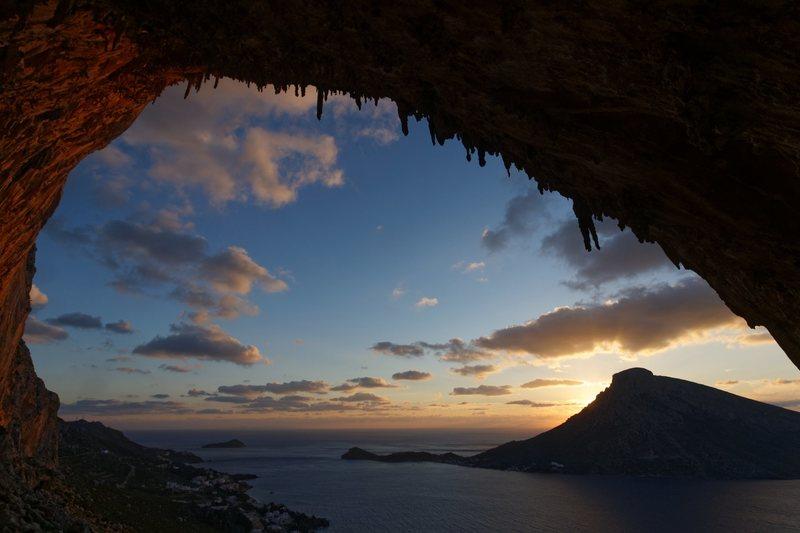 Rock Climbing Photo: Grande Grotta cave