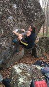 Rock Climbing Photo: John on the start.
