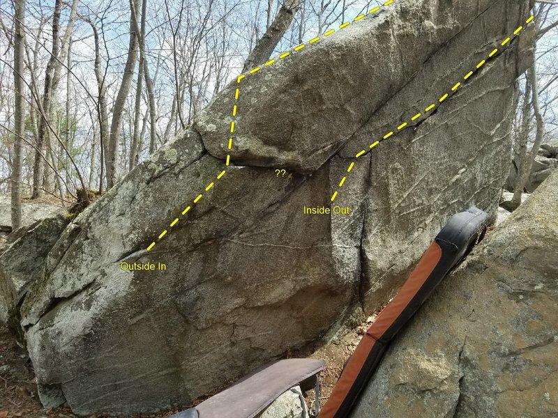 Rock Climbing Photo: Lower boulder sit starts.