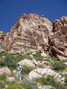 Rock Climbing Photo: Morgan Patterson approaching the base
