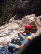 Rock Climbing Photo: Morgan Patterson on one of the comfy belays