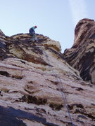 Rock Climbing Photo: Looking up at the first Rap - don't hang up th...