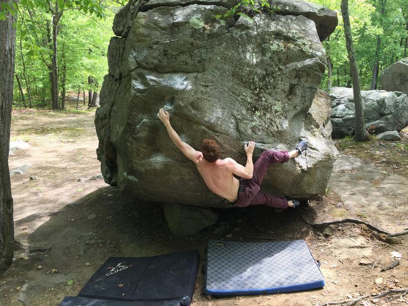 Rock Climbing Photo: Alex hitting the jug