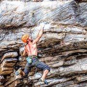 Rock Climbing Photo: Apollo Reed Dyno, Climber Michael Mosure
