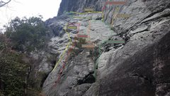 Rock Climbing Photo: Right side routes.