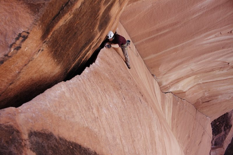Rock Climbing Photo: On the Jupiter Crack in Indian Creek!!