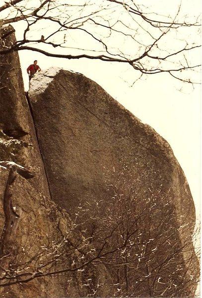 Rock Climbing Photo: Leslie Newman on Oh My God circa 1984.