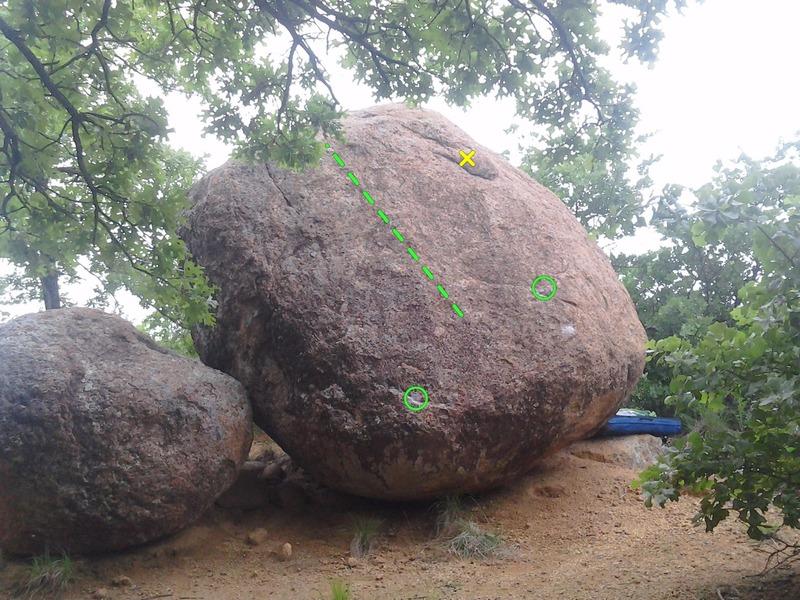 Rock Climbing Photo: X marks the crouton.