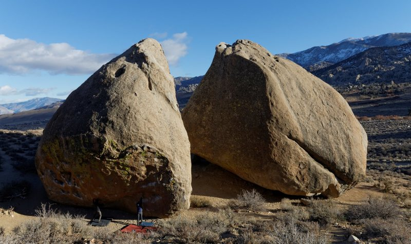 Climbing in Peabody Boulders, ...