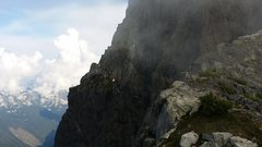 Rock Climbing Photo: Looking back at the NE Buttress on the Crossover P...