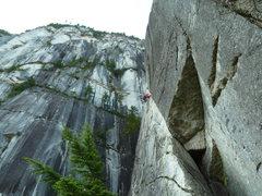 Rock Climbing Photo: P2: The Angel Crack
