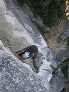 Rock Climbing Photo: Following the crux pitch