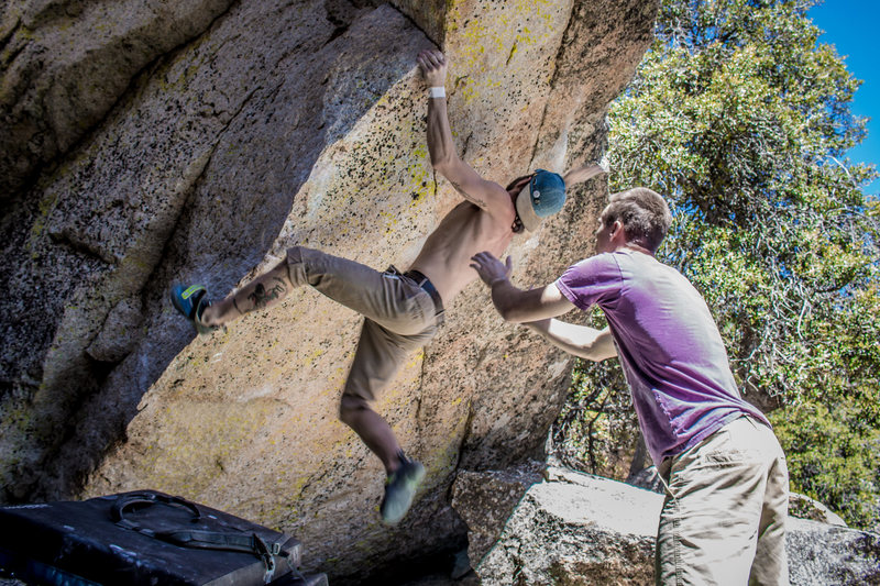 Rock Climbing Photo: Nicholas Rondilone on The 8th Dimension. Photo by ...