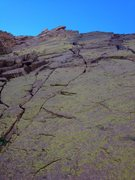 Rock Climbing Photo: View from the base of the headwall