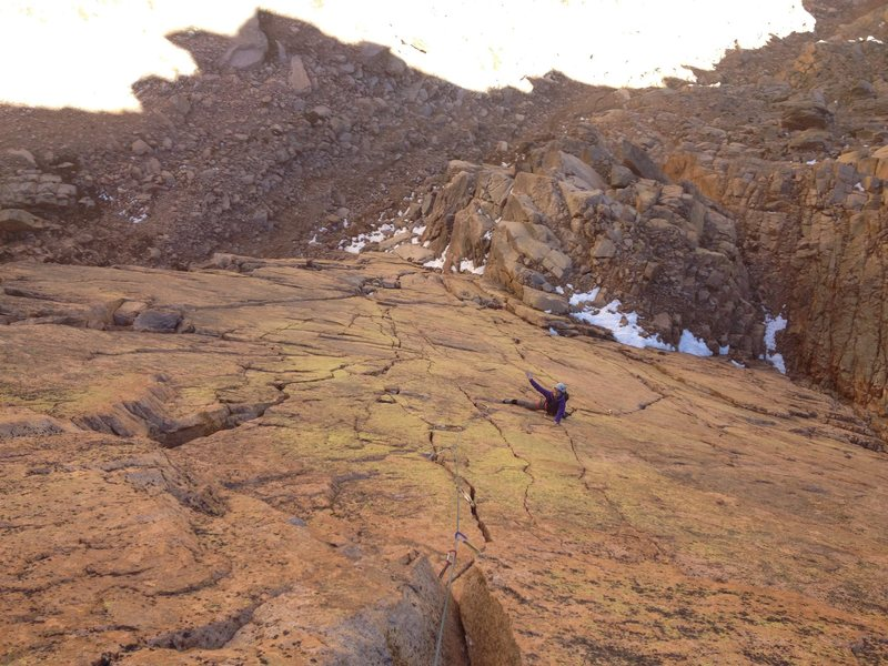 Rock Climbing Photo: Making the traverse on pitch 5