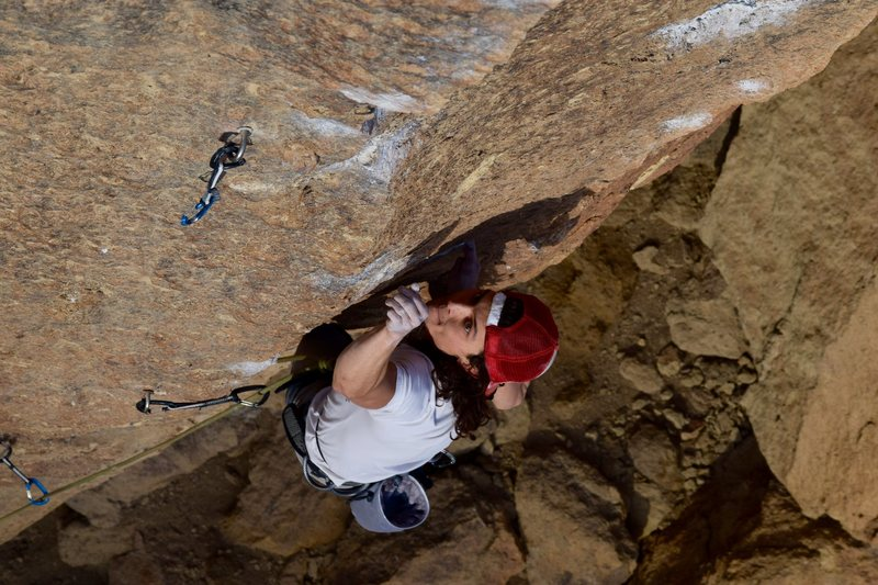 Rock Climbing Photo: vicious fish lower crux