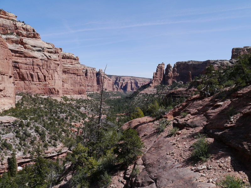 Looking down the upper end of Arch Canyon from Keystone Arch