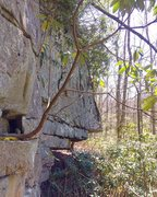 Rock Climbing Photo: The Schnozz, a beautiful roof feature with nice sl...