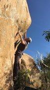 Rock Climbing Photo: Toss to the small edge.  Hard climb.