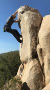 Rock Climbing Photo: Setting up for the heel hook to finish.